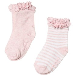 GAP 2-Pack Socks Pink Heather