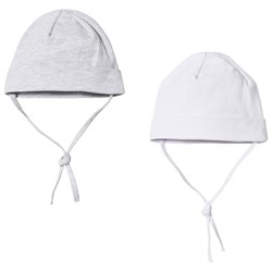 Kuling Baby Hat 2-Pack White and Grey