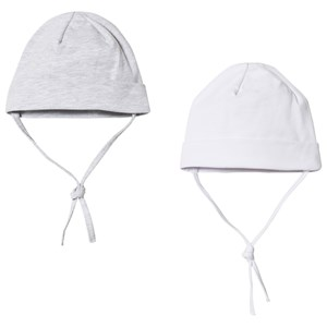 Image of Kuling Baby Hat 2-Pack White and Grey 40/42 cm (2743746741)