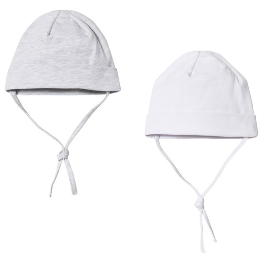 Kuling Baby Hat 2-Pack White and Grey White