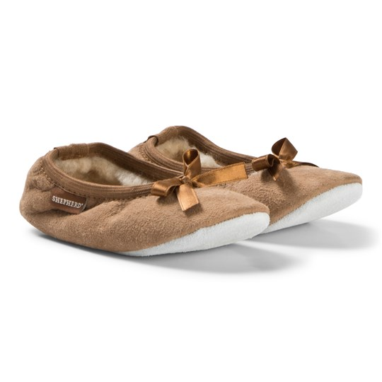 Shepherd Chestnut Varberg Slippers BROWN