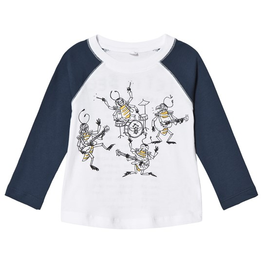 Stella McCartney Kids Grey Let it Bee Print Long Sleeve Tee 9082