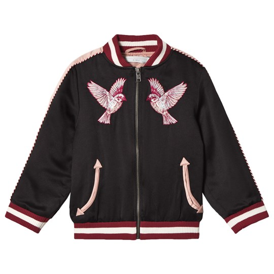 Stella McCartney Kids Embroidery Birds Willow Jacka i Svart 1073