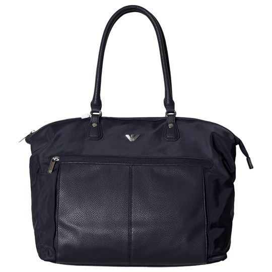 Emporio Armani Navy Leather Changing Bag 06935