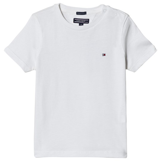 Tommy Hilfiger White Short Sleeve Flag Tee 123