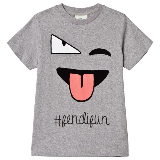 Fendi Grey Wink Fun Tee F0HA1