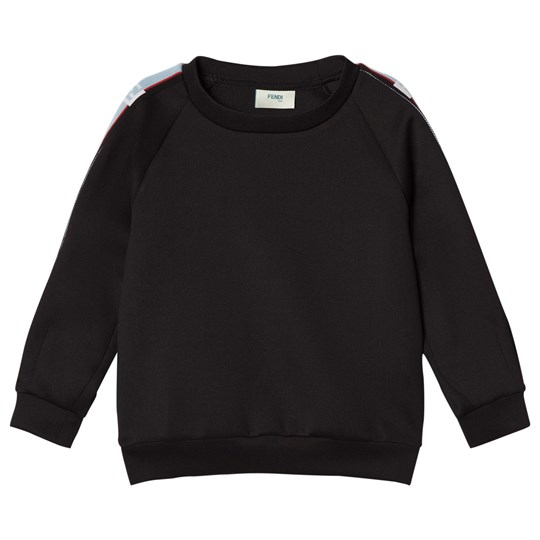 Fendi Black Logo Trim Sweatshirt F0QA1