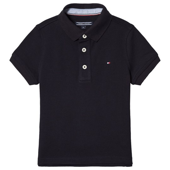 Tommy Hilfiger Flag Logo Pique Polo Navy 420