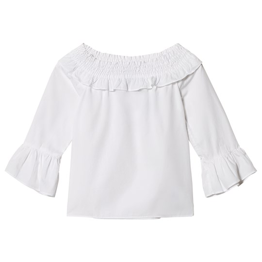Ralph Lauren White Off The Shoulder Top 001