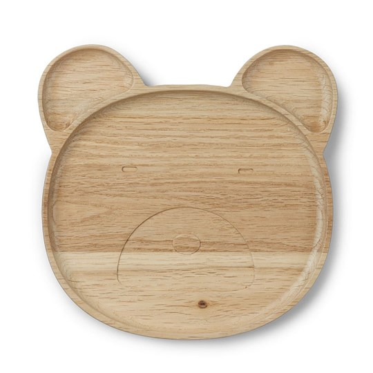 Liewood Conrad Wood Plate Mr Bear Natural 0067 Mr bear natural