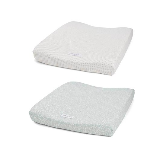 Liewood 2-Pack Coco Changing Pad Cover Urban Garden/Little Dot 9102 Urban garden/little dot creme de la creme