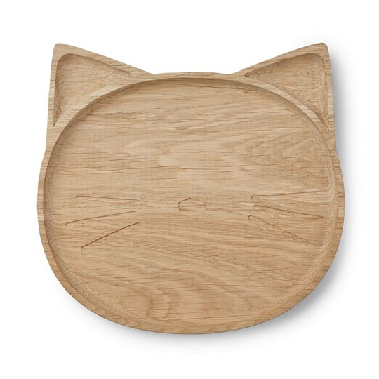 Liewood Conrad Wood Plate Cat Natural 0027 Cat natural