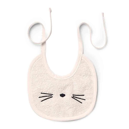 Liewood 2-Pack Lilja Bibs Cat Sweet Rose 0021 Cat sweet rose