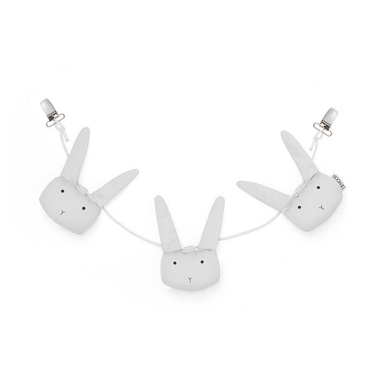 Liewood Holger Barnvagnskedja Rabbit Dumbo Grey 0032 Rabbit dumbo grey