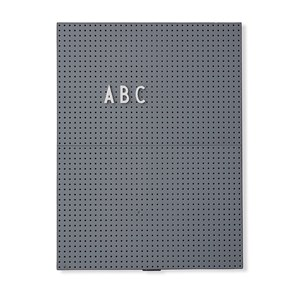 Image of Design Letters Message Board A4 Dark Grey (2974764941)