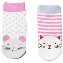 Tom Joule Pink Cat & Mouse 2 Pack Neat Feet Socks CAT & MOUSE