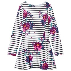 Joules Stripe & Floral Erin Jersey Skater Dress