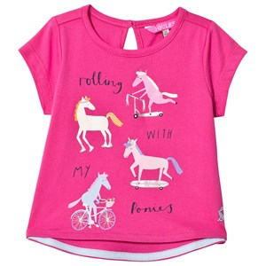 Image of Tom Joule Pink Pony Print Pixie Tee 1 year (3033491935)