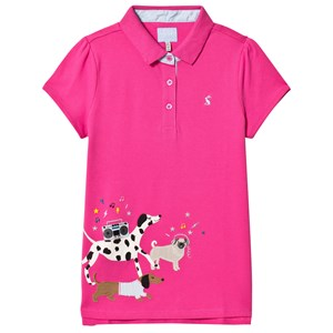 Image of Joules Pink Moxie Party Dogs Applique Polo Top 1 year (1134004)