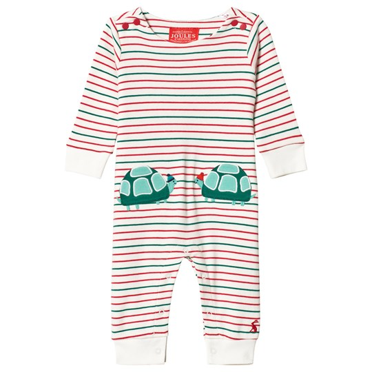 Tom Joule Stripe Baby Fife Tortoise Applique One-Piece MULTI STRIPE TORTOISE