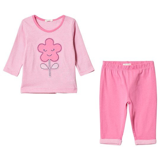 United Colors of Benetton T-Shirt and Trousers Set Candy Pink Candy Pink