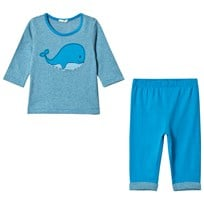 United Colors of Benetton T-Shirt and Trousers Set Blue Blue