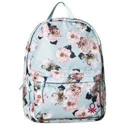 United Colors of Benetton Blue Floral Backpack
