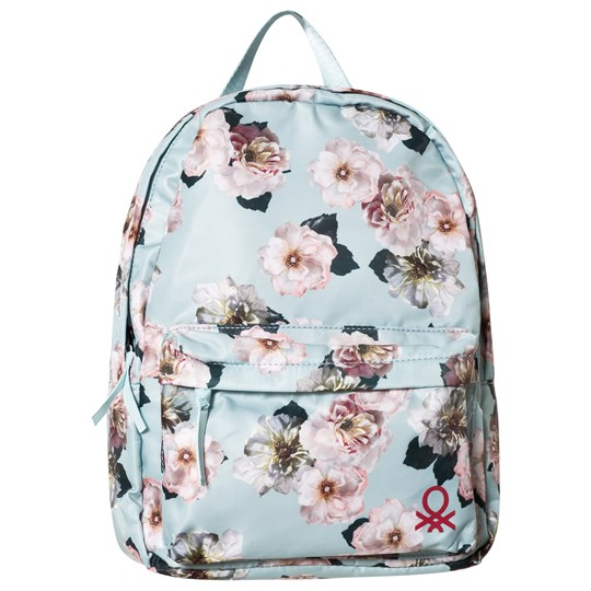 United Colors of Benetton Blue Floral Backpack Blue