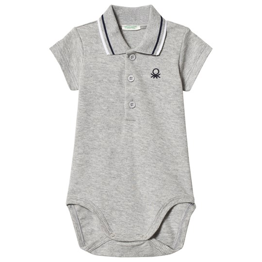 United Colors of Benetton Short Sleeve Baby Body Grey Melange Grey Melange