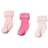 United Colors of Benetton 3-Pack Cotton Socks Pink Pink