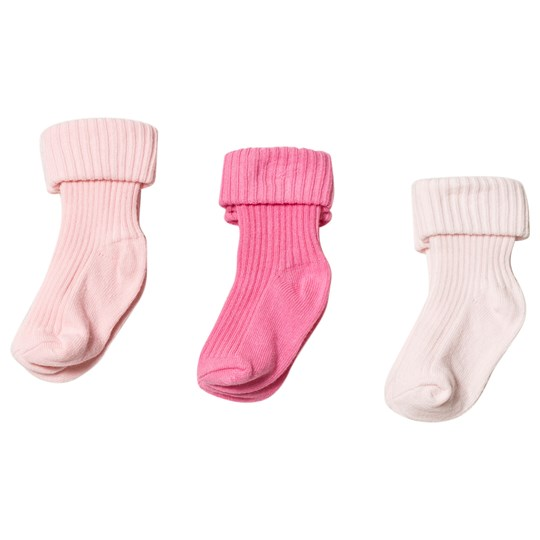 United Colors of Benetton 3-Pack Strumpor Rosa Pink