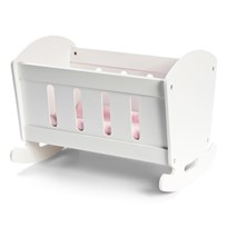 STOY White Wooden Cradle for dolls