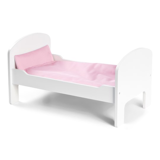 STOY White Wooden Doll Bed