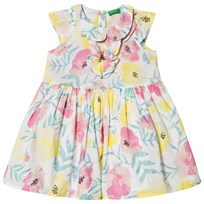 United Colors of Benetton Dress Multi Flowers in White Multi