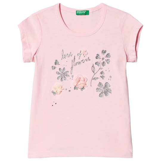 United Colors of Benetton T-shirt Flowers in Pink Pink