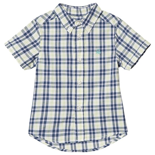 United Colors of Benetton Shirt Checked Yellow Yellow