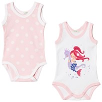 United Colors of Benetton 2-Pack Baby Body White and Pink White & pink