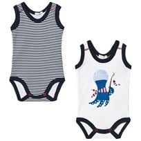 United Colors of Benetton 2-Pack Baby Body White and Navy White & Navy