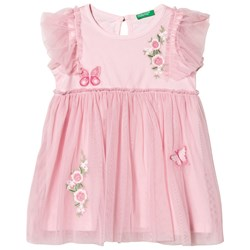 United Colors of Benetton Pink Embroidered Dress