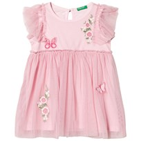 United Colors of Benetton Pink Embroidered Dress Pink