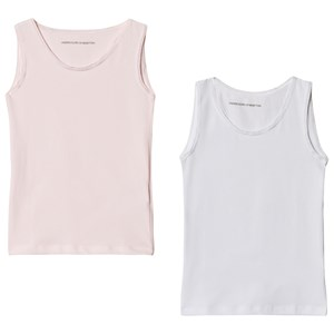 Image of United Colors of Benetton 2-Pack Tank-Top Pink and White 90 (18-24 mdr) (3034055787)