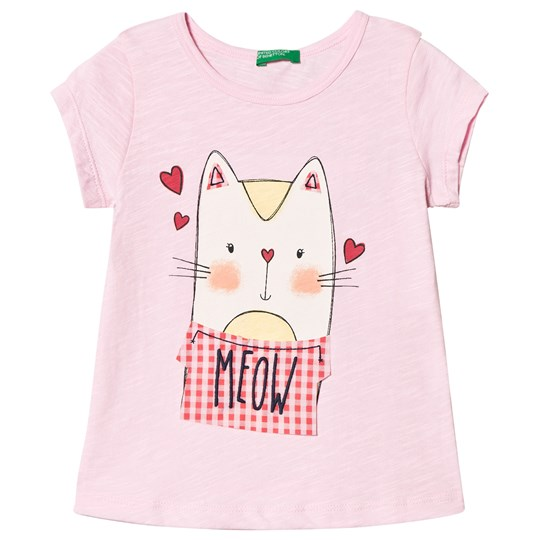 United Colors of Benetton Cat T-shirt Candy Pink Candy Pink