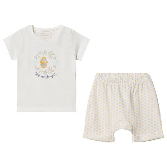 4fdac194c United Colors of Benetton - T-Shirt and Shorts Set Off White ...