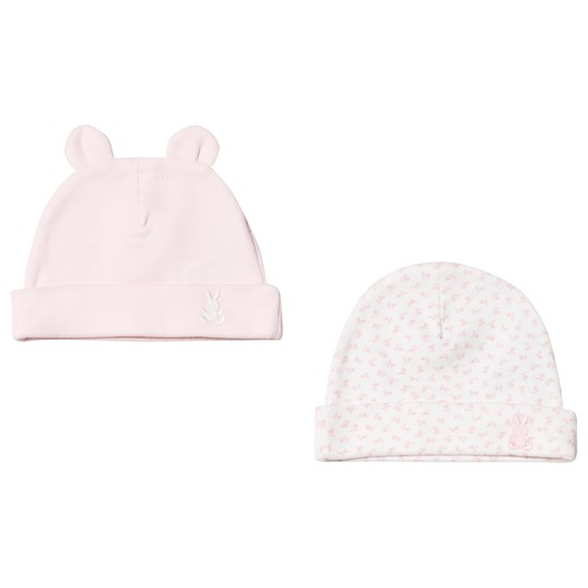 United Colors of Benetton Set av 2 Hattar Rosa & Vit Pink & White