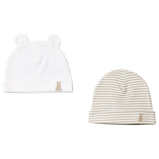United Colors of Benetton Set of 2 Hat White & Beige White & Beige