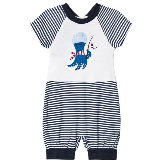 United Colors of Benetton Overall White & Navy White & Navy