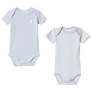 Image of United Colors of Benetton 2 Pack Baby Body Blue & White 82 (12-18 mdr) (3034055691)