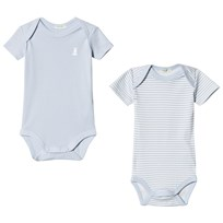 United Colors of Benetton 2 Pack Baby Body Blue & White Blue & White