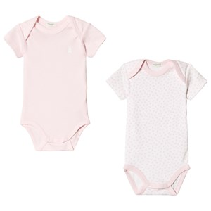 Image of United Colors of Benetton 2 Pack Baby Body Pink & White 62 (3-6 mdr) (3034055697)