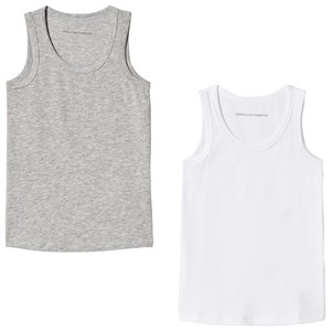 Image of United Colors of Benetton 2 Pack Tank Top White & Grey 90 (18-24 mdr) (3034055773)